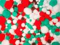 Coloured cotton balls Stock Photos