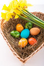Coloured eggs Royalty Free Stock Photos
