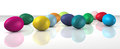 Coloured eggs Royalty Free Stock Image