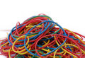 Coloured elastic bands Stock Images