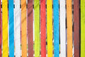 Coloured fence background Royalty Free Stock Photo