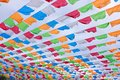 Coloured flags Royalty Free Stock Photo