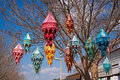 Coloured lanterns Royalty Free Stock Photography