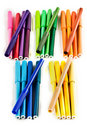 Coloured Markers Royalty Free Stock Photos