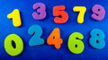 Coloured numbers Royalty Free Stock Photo