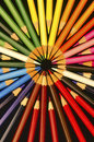 Coloured Pencils circles Royalty Free Stock Photo
