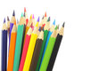 Coloured pencils isolated on white Royalty Free Stock Photo