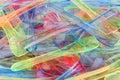 Coloured Plastic Ice Cream Spoons Royalty Free Stock Photo