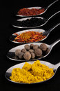 Coloured spices Royalty Free Stock Photo