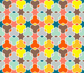 Coloured Star Pattern Royalty Free Stock Photos