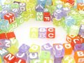Colourful ABC alphabet blocks Royalty Free Stock Images