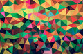 Colourful abstract geometric background with triangular polygons. Royalty Free Stock Photo