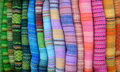 Colourful Alpaca Blankets Royalty Free Stock Image