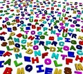 Colourful alphabet letters background Royalty Free Stock Photos