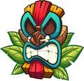 Colourful angry tiki mask