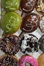 Colourful Assorted Delicious Doughnuts. Yummy Doughnuts