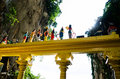 Colourful back view of hindu statues, Batu Cave, Malaysia Royalty Free Stock Photo