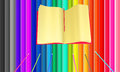 Colourful background from pencils put in a row Stock Images