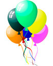 Colourful balloons with glare Royalty Free Stock Photo