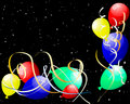 Colourful balloons with glare Stock Photos