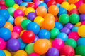 Colourful balls in the playground Royalty Free Stock Photo
