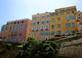Colourful bastia building facades in corsica france Stock Images