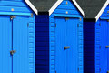 Colourful beach huts bournemouth beach england on dorset Royalty Free Stock Photography