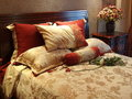Colourful Bed,Living Room Royalty Free Stock Photo
