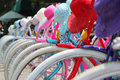 Colourful bikes jakarta a row of found in Royalty Free Stock Photography
