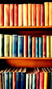 Colourful bookshelf Royalty Free Stock Photo
