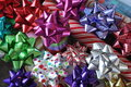 Colourful bows, toppers and wrappers Royalty Free Stock Photo