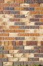 Colourful Brick Wall Royalty Free Stock Photo
