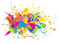 Colourful bright ink splashes Stock Photography