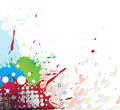 Colourful bright ink splat design Royalty Free Stock Photos