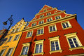 Colourful buildings in Wroclaw city, Poland Royalty Free Stock Photos