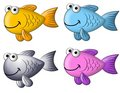 Colourful Cartoon Fish Clip Art Royalty Free Stock Photo