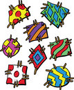 Colourful Cartoon Style Patches Stock Photo