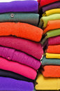 Colourful cashmere alpaca and merino wool Royalty Free Stock Images