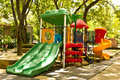 A colourful children playground Stock Photo