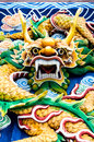 Colourful Chinese Dragon Head Royalty Free Stock Photo