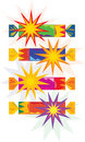 Colourful christmas crackers (vector) Royalty Free Stock Photos
