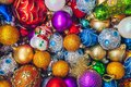 Colourful Christmas holiday decorations Royalty Free Stock Photo