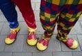 Colourful Clown Feet