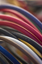 Colourful computer wires Royalty Free Stock Photo