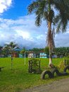 Colourful Costa Rican neighbourhood Royalty Free Stock Photo