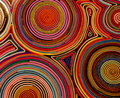 Colourful details of a carpet Stock Images