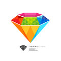 Colourful Diamond Symbol