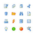 Colourful document icons Royalty Free Stock Images