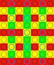 COLOURFUL DUPLICATION OF CIRCLE ON SQUARE Royalty Free Stock Photo