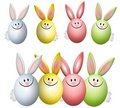 Colourful Easter Egg Bunny Rabbits Stock Photography